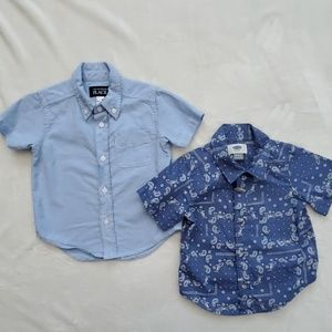 The Children's Place collared button up shirts bun